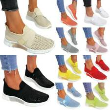 Womens Ladies Slip On Sneakers Casual Gym Sports Trainers Casual Run Shoes Size