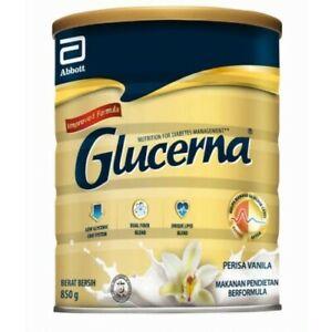 2 Glucerna Triple Care Diabetic Milk Powder Vanilla 850g Free Shipping EXP 11/21