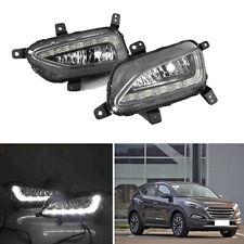 For Hyundai Tucson 15-16 Right & Left White Lamps LED Daytime Running Light DRL