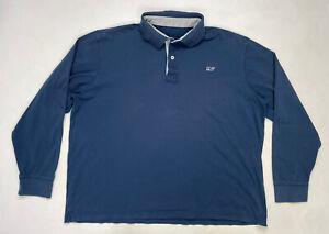 Vineyard Vines Polo Shirt Men Slim Fit Adult XXL Blue Long Sleeve