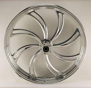 Vortex Polished 26 x 3.5 Front Dual Disc Wheel for Harley & Custom Models