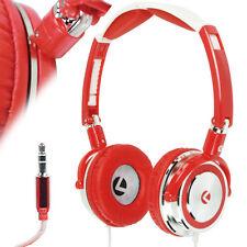 3.5mm Red Foldable On-ear Stereo Headphones Headset - Bass - Swivel - MP3 iPod