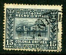 Italy 1910 Eritrea 15¢ Dark Blue SG # 47 VFU D830 ⭐⭐⭐⭐⭐⭐