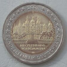 2 Euro Deutschland D 2007 Schweriner Schloss MVP unz