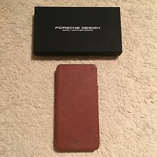 Porsche Design P'3300 French Classic iPhone 6/6S Leather Sleeve/Pouch Dark Brown