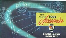 1951 FORD CAR GENUINE ACCESSORIES  BROCHURE