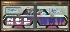 TOM BRADY / PEYTON MANNING DUAL AUTO BOOKLET #D /4 TRIPLE THREADS 2008 AMAZING !