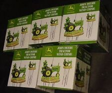 WHOLESALE LOT BOX OF 5 JOHN DEERE TRACTOR WIND CHIME poly resin parts deer green