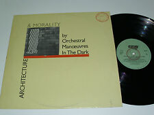OMD ORCHESTRAL MANOEUVERS IN THE DARK Architecture & Morality - PORTUGAL LP RARE