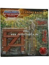Motu weapons rack Masters Of the Universe Classics HE MAN MOC NUOVO MOTU-Classics