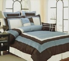 8pc Bed in a Bag Berrie Blue Comforter Set/ *Bonus* Includes 600 TC Sheet Set