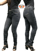 AUSTRALIAN Bikers Gear Stone wash Ladies Motorcycle Jeans with DuPont™ Kevlar®