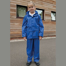 Result Kids Waterproof Windproof Rain Suit Trousers & Jacket Boys Girls (R225J)