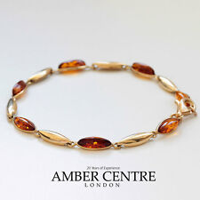 ITALIAN MADE BALTIC AMBER BRACELET IN 9CT GOLD -GBR078  RRP£375!!!