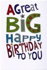 Open Male Birthday Card~modern ~ Happy Birthday~Free P&P