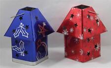 Candle Holders Tin Box Co Christmas Design Lantrens Set of 2