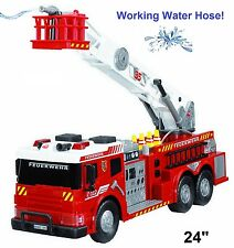 Kids Large Fire Truck Toy Fire Fighters Brigade Vehicle Lights Sounds Water Pump