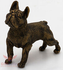Tin Pewter Figurine of French Bulldog Dog IronWork