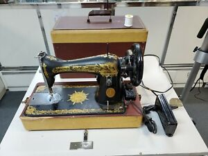 OLD VINTAGE SINGER SEWING MACHINE SPHINX CLASSIC S# NG050508 IN CASE