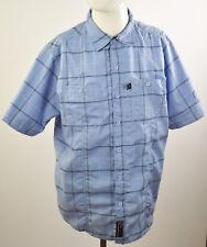 DUCKS UNLIMITED Canada  Men's Button Up Collared Shirt Blue Check Plaids Sz M
