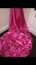"1 MTR HOT PINK SATIN LINING FABRIC...58"" WIDE"