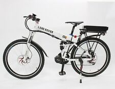 White 48V 750W Mid-Drive Foldable+Hydraulic+48V 20Ah Battery Electric Bicycle