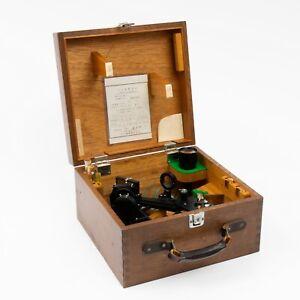 Vintage Japanese Simex Mariner Sextant in Mahogany Box Model MK I Cert 45.4.13