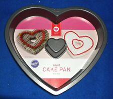 WILTON HEART CAKE PAN, non-stick, 10x9x1.5