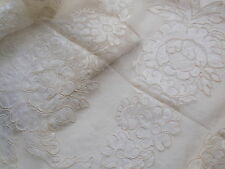Vintage Ivory Colored Alencon Wide French Lace Fabric Trim James McConnell 3.5yd