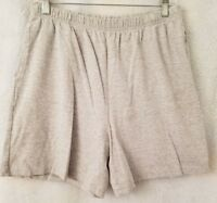 Basic Editions Womens Gray Elastic Waist Shorts Size L