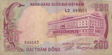 200 DONG VG BANKNOTE FROM SOUTH VIETNAM 1972 PICK-32