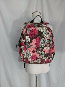 Vera Bradley EUC backpack mocha rouge Kids Adult Pink Brown  Floral