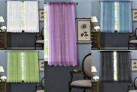 2PC SOLID SHEER PANEL INDOOR OUTDOOR PORCH WEDDING ROD POCKET WINDOW CURTAIN