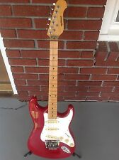 Applause red electric vintage stratocaster guitar by Ovation 1980-1990