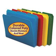 Smead Waterproof Poly File Folders 1/3 Cut Top Tab Letter Assorted 24/Box 10500