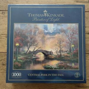 Thomas Kinkade Painter of Light: Central Park in the Fall 1000 Piece Jigsaw New