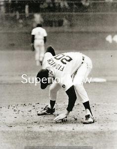 "Detroit Tigers Mark Fidrych Pitcher Mark ""The Bird"" Fidrych Patting The Mound"
