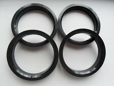 4 Polycarbon Plastics hub centric rings vehicle side 57.1mm to rims side 72.62mm