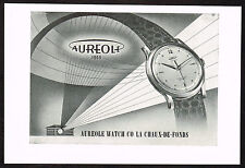 1950's Vintage 1952 Aureole Watch Co. - Paper Print AD