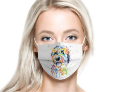 Goldendoodle Painting Cloth Face Mask (2-7 Business Days Delivery)