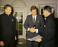 President John F. Kennedy is given Laetare Medal by Notre Dame New 8x10 Photo