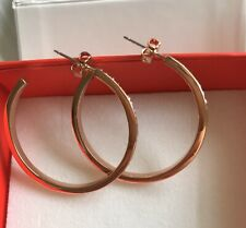Guess G Colours Rose Gold Crystal Hoop Earrings
