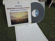 BARTOK: String quartets n°5 & 6 > Budapest Bartok Quartet/ Erato stereo Japan LP