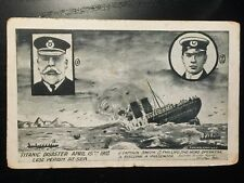 1913 Titanic Sinking Disaster Postcard -Captain Smith, Phillips, Passenger Boat