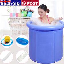AU Folding Bathtub Portable PVC Foldable Water Place Tub Room Spa Massage Bath