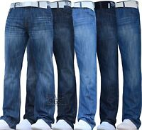 New Mens Smith and Jones Bootcut Straight Leg Jeans All Waist Leg Sizes Flared