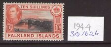 FALKLAND ISLANDS GEORGE VI 10/- SG162b 1944, single, multi-colour L/hinged