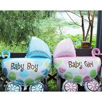 1PC Kids Birthday Foil Balloons Baby Stroller Helium Balloon for Party Decor UR