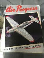 Vintage Air Progress 1938 Frank Tinsley Air Trails Annual For 1938 Magazine