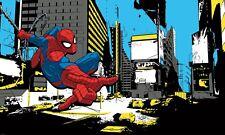 RoomMates Spiderman Fototapete  Wandtattoo Sticker Wand Wandkleber Aufkleber